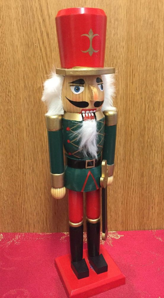 kitchen decor themes tall chairs hand painted wooden nutcracker 38 cm traditional christmas ...